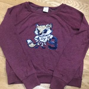 Cute Fox 🦊 Girls XL Abercrombie Crew Sweatshirt